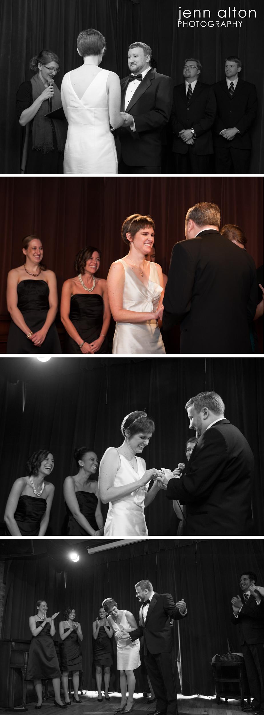 Ring exchange and vows, Uncommon Ground on Devon, Chicago, IL