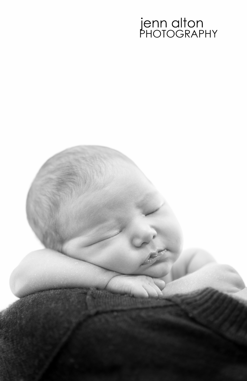 newborn baby girl photography, face, black and white