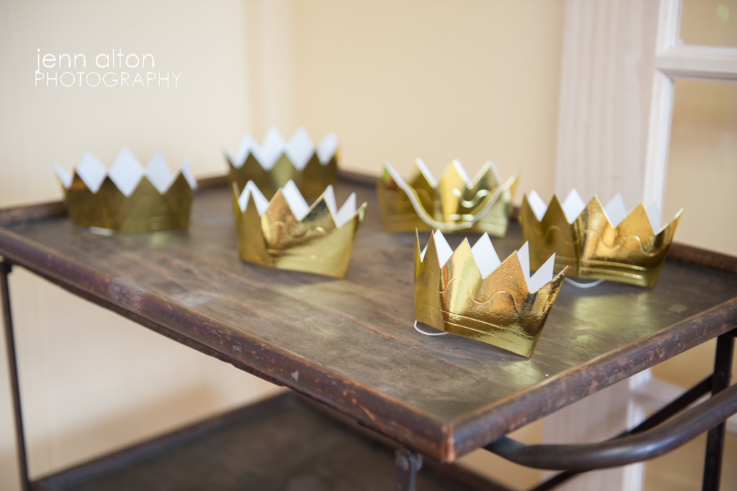 Crowns for photo station, Where The Wild Things Are themed Baby Shower