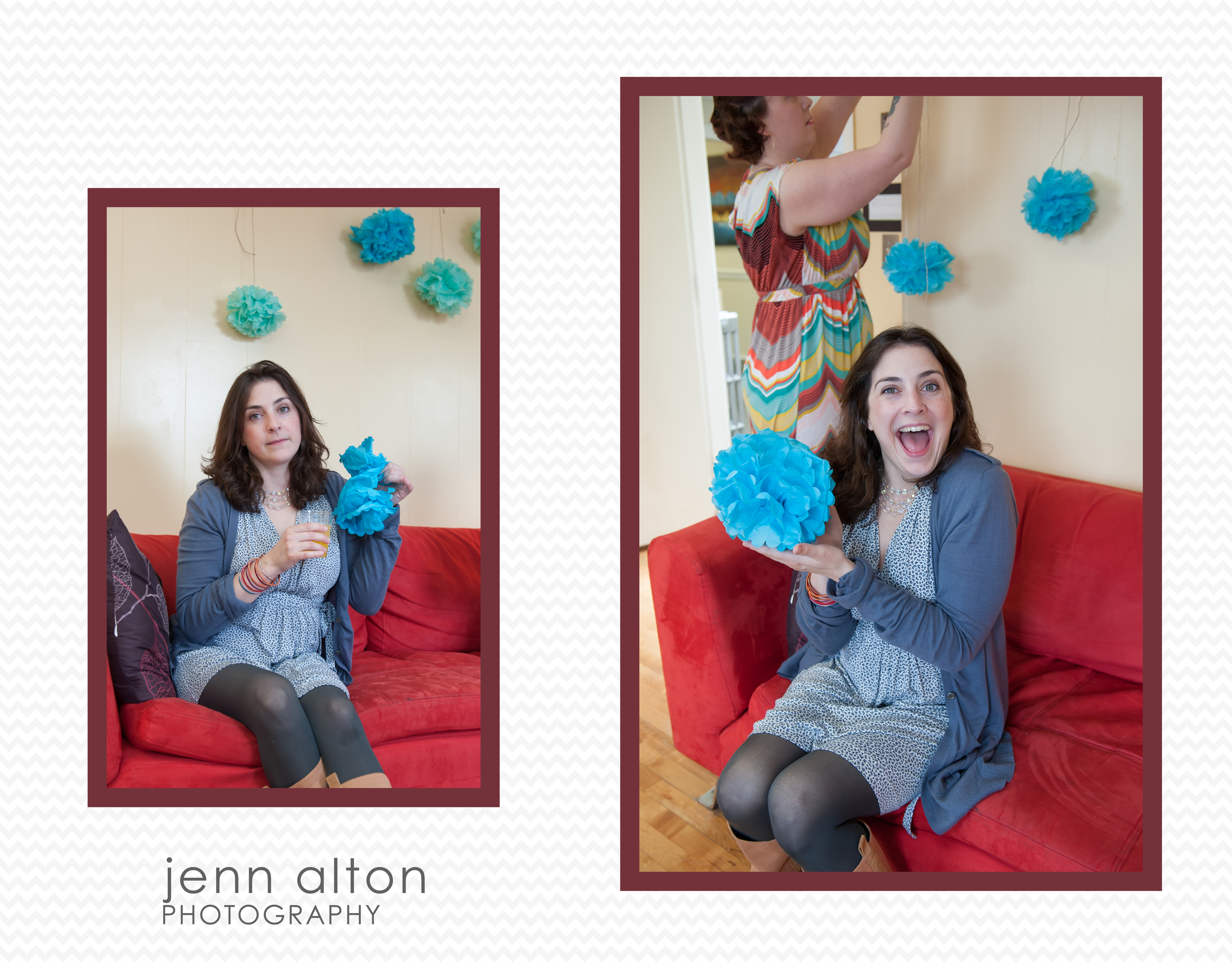 pompom construction, DIY baby shower decorations