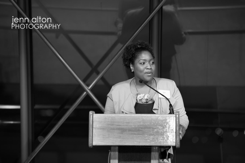 Breakthrough Springfest 2013 speaker at podium, Moakely Courthouse Boston