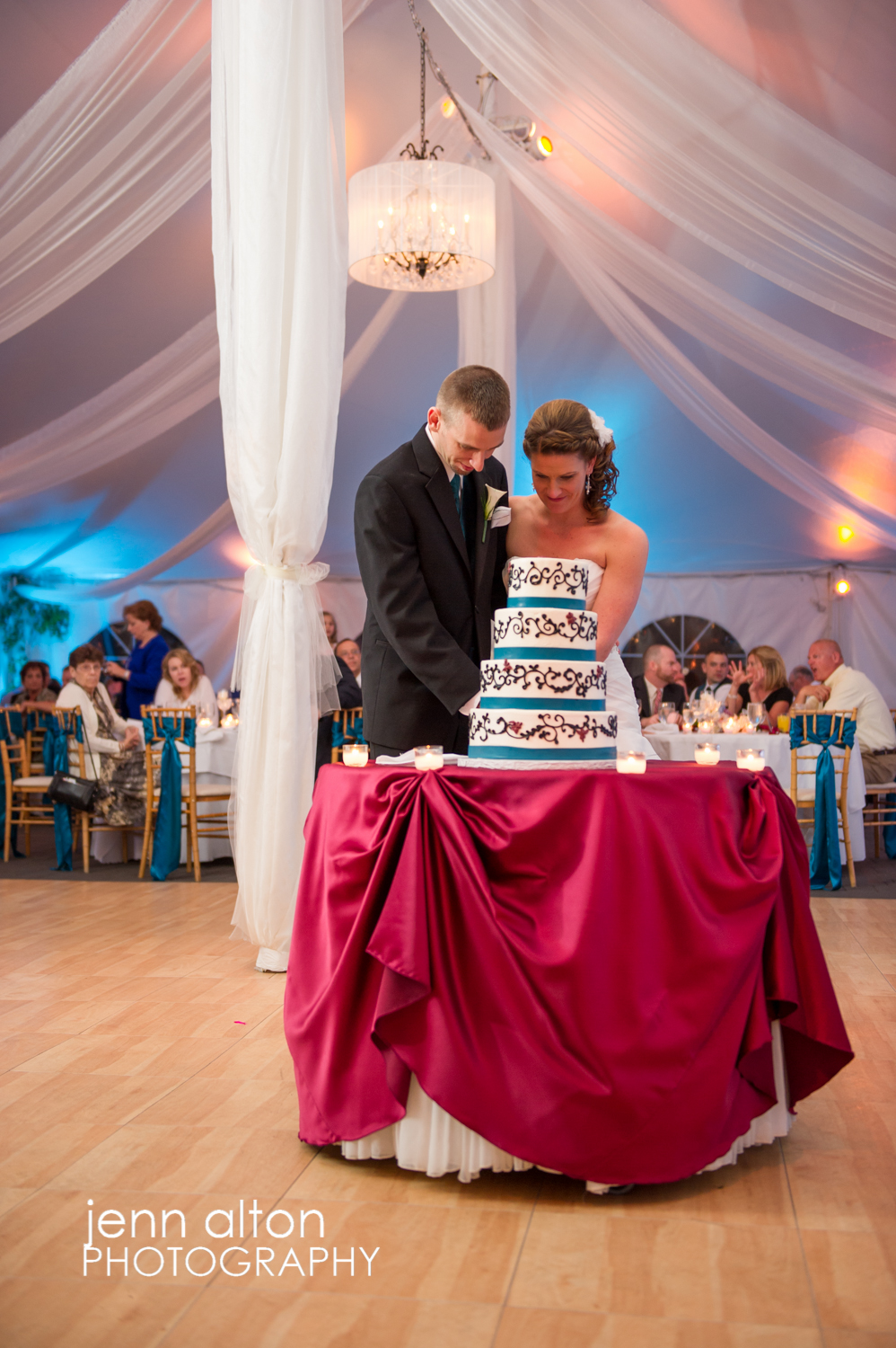 Cake Cutting, bride and groom, Searles Castle