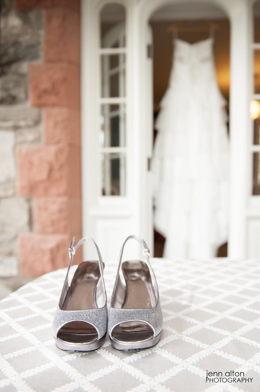 Shoes and Dress, Bridal Suite, Searles Castle
