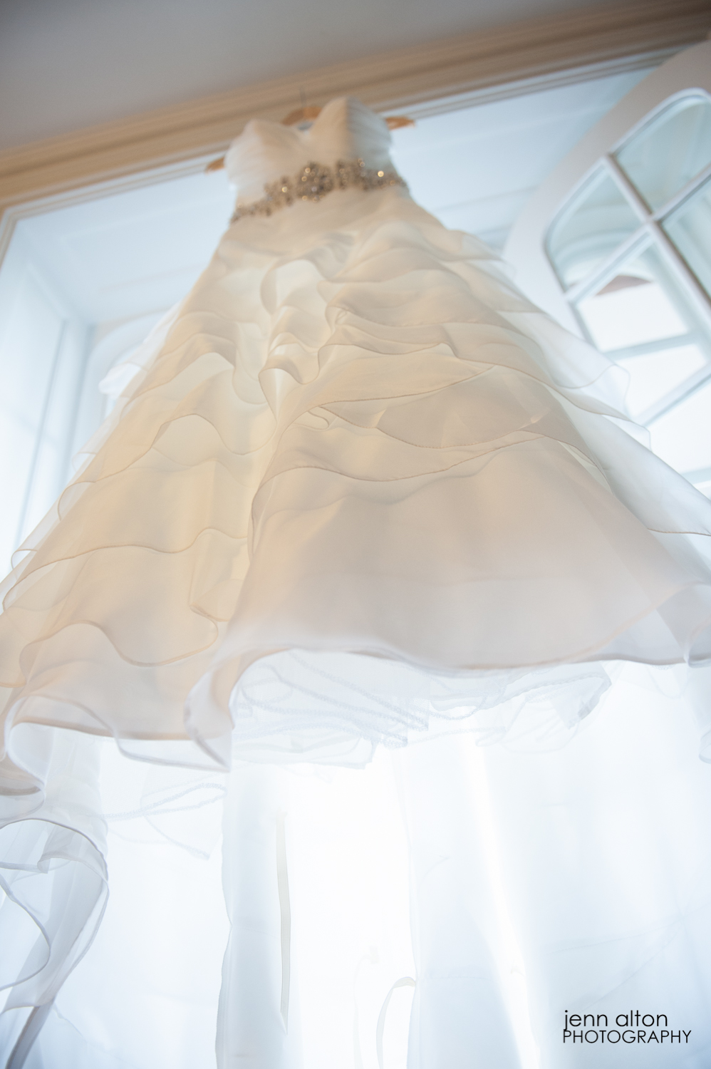 Wedding gown detail, Searles Castle