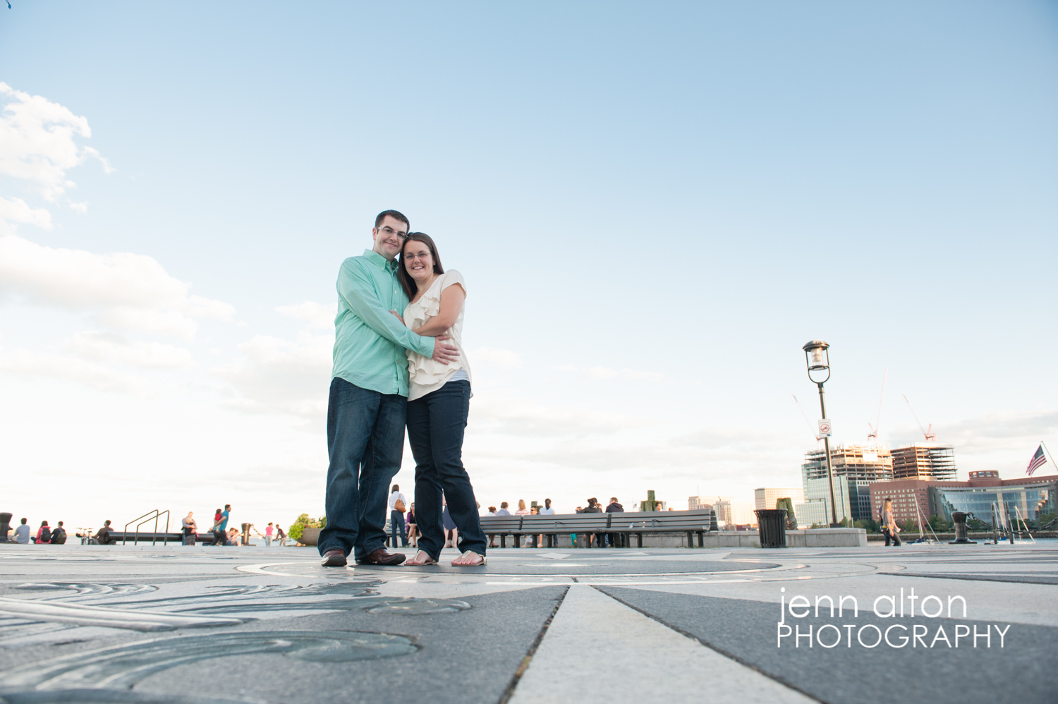 Ring close up, Couple engagement portrait, Boston Waterfront
