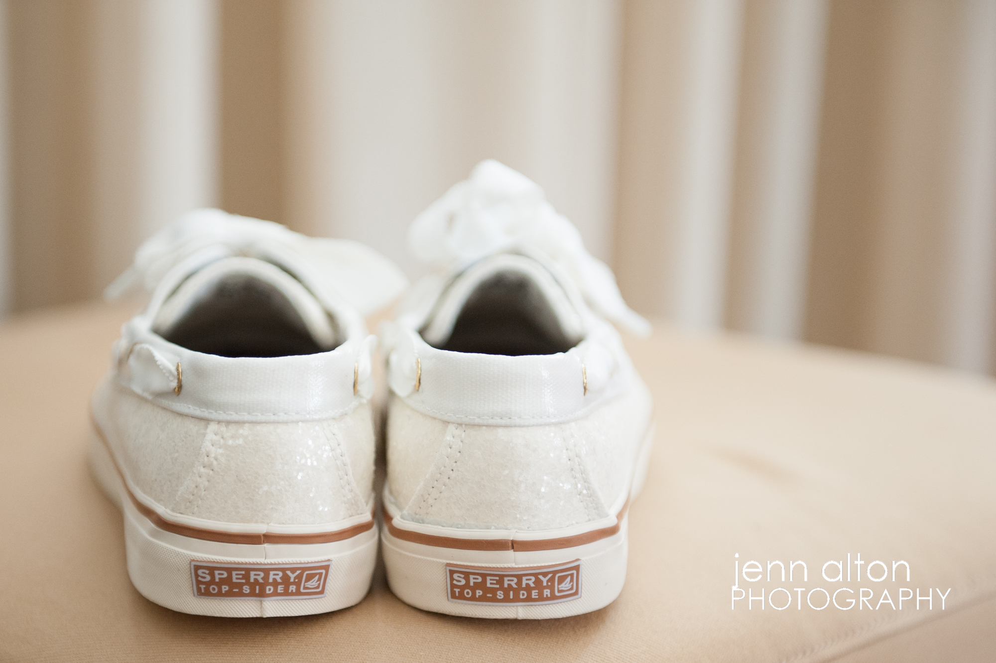 Bride's Sperry Dancing Shoes, Wedding