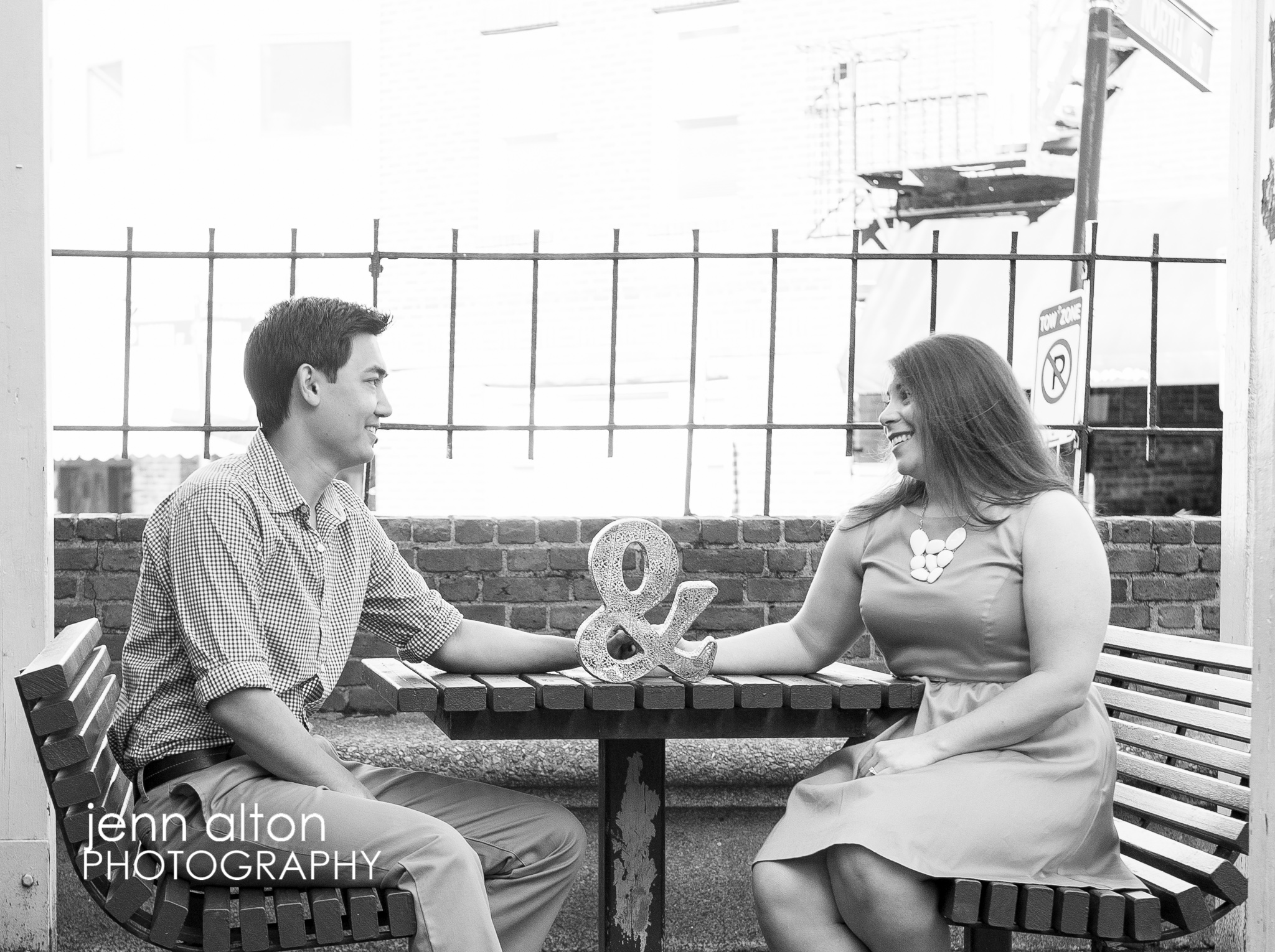 Engagement couple, Ampersand, North End, Boston