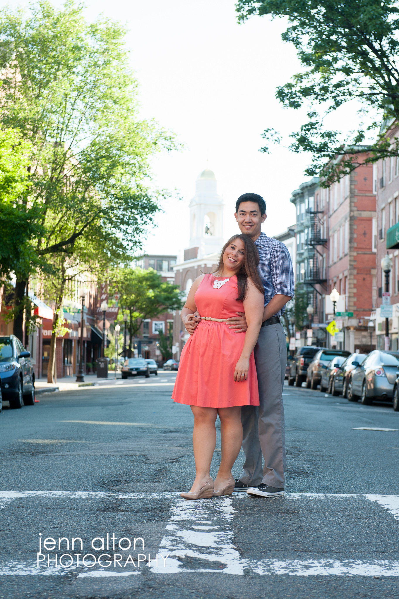 Engagement couple, North End, Boston