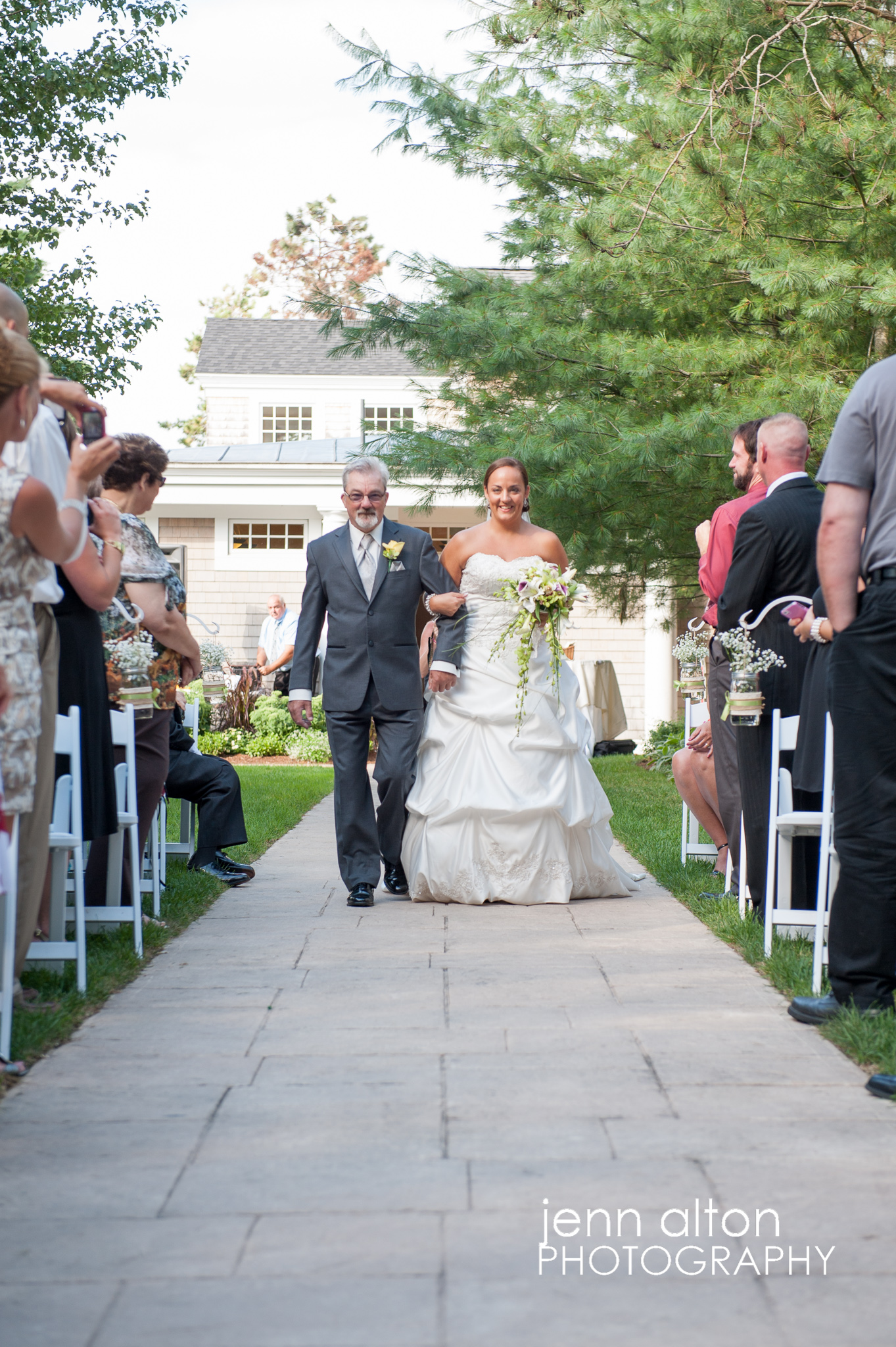 Bride entrace with Father, Pinehills Golf Club Reception