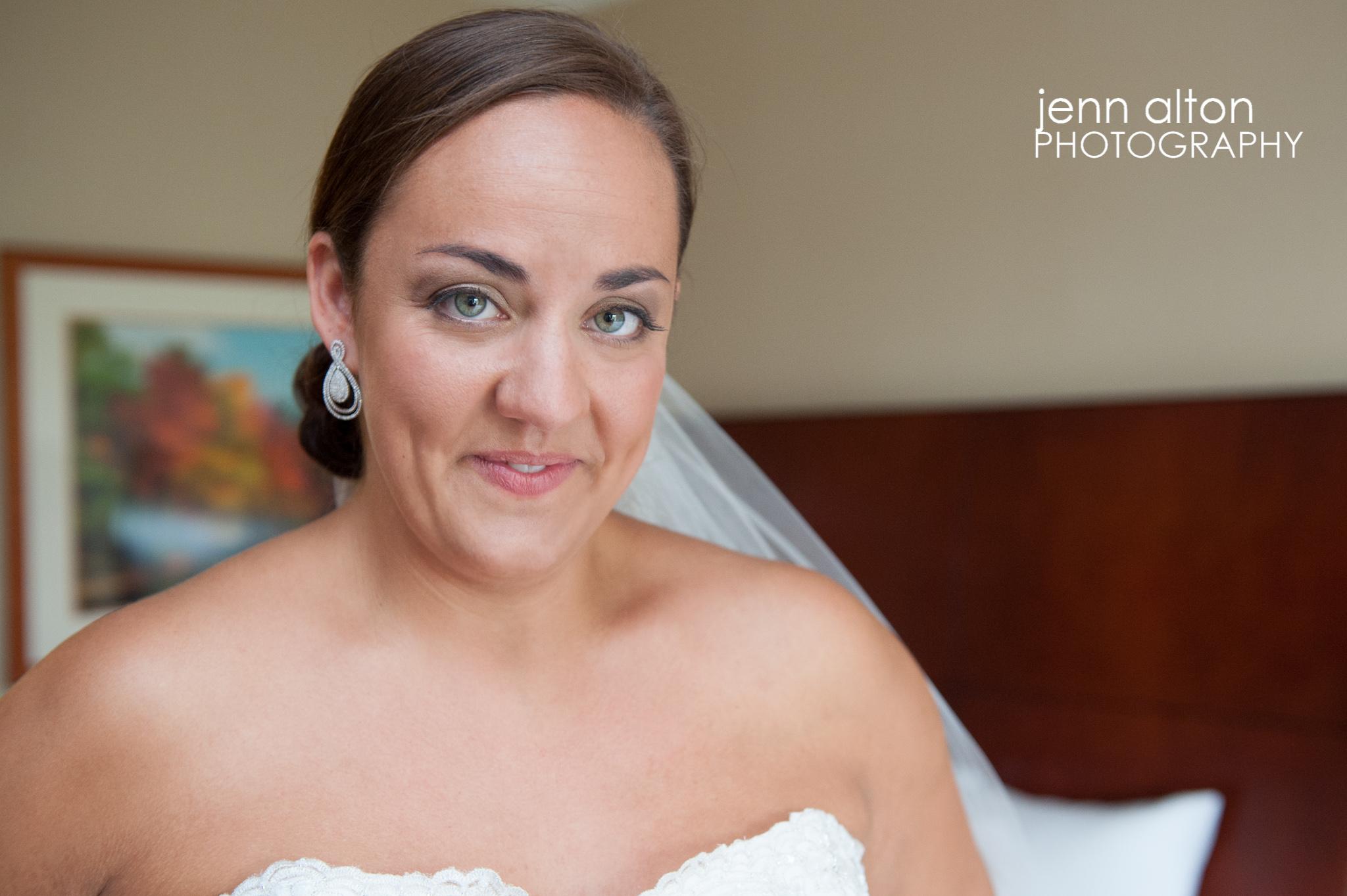 Bride portrait before wedding