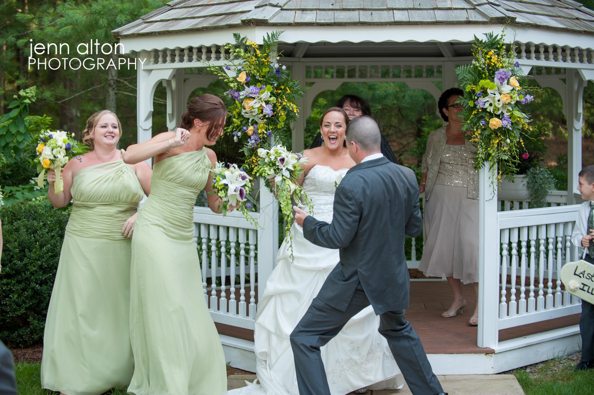 Harlem Shake Bridal party at Ceremony, Pinehills Golf Club Ceremony