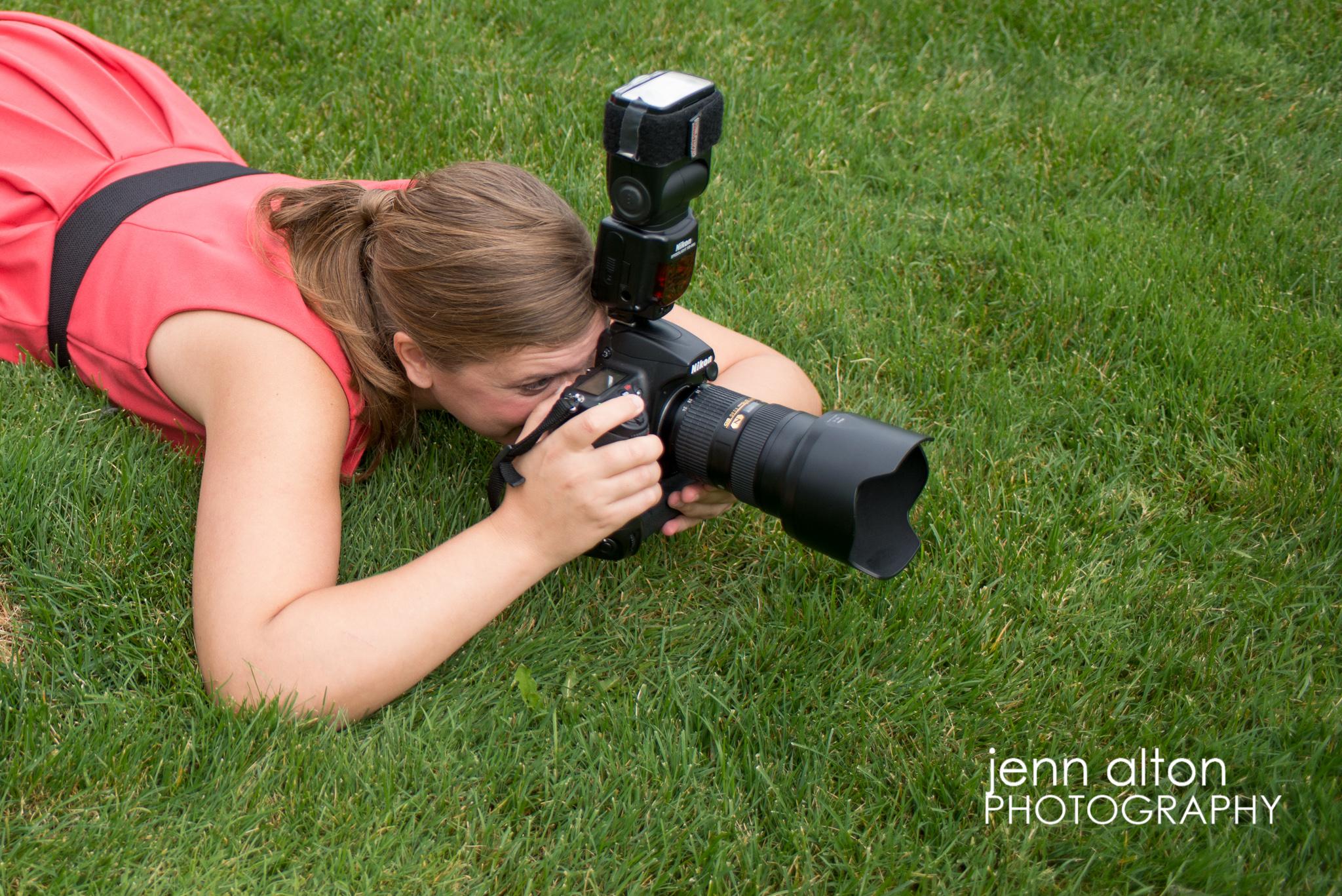 Photographer on the ground for photos