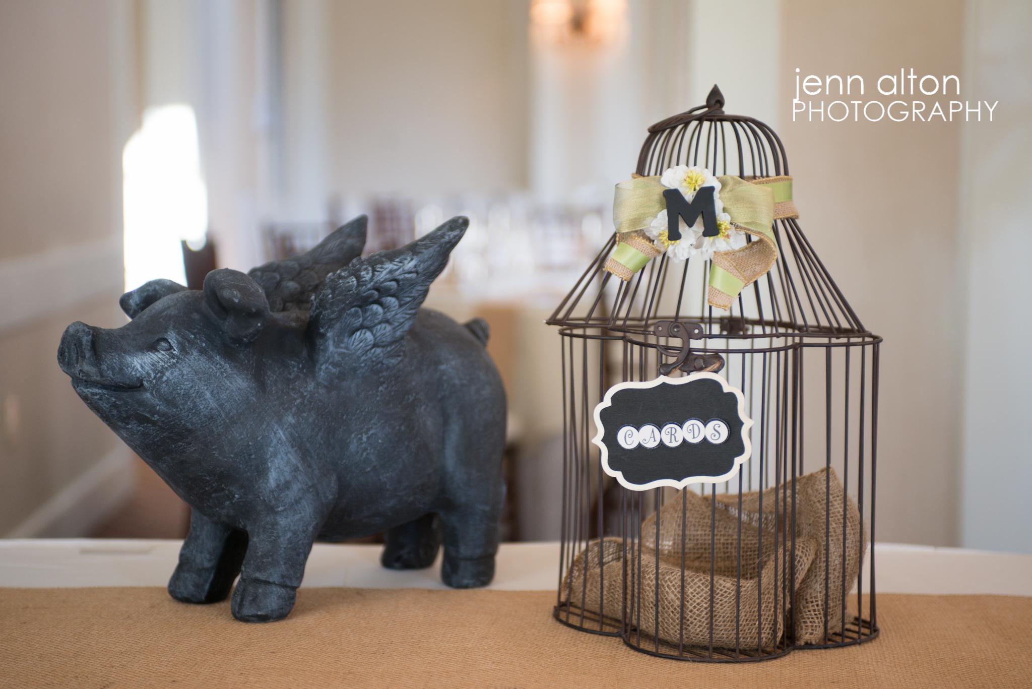 Card holder bird cage, Pinehills Golf Club Reception