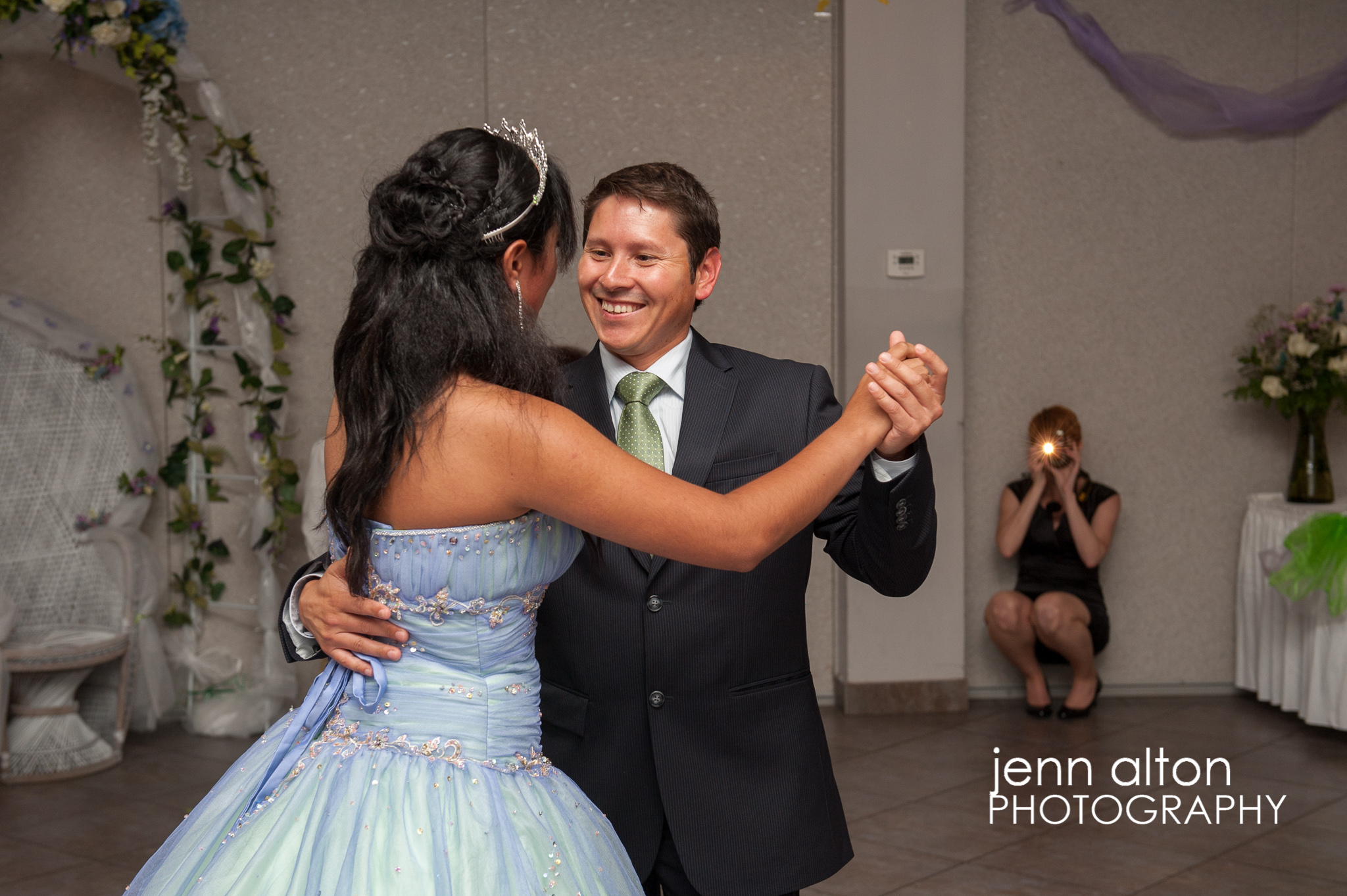 Brother dancing with Quinceanera