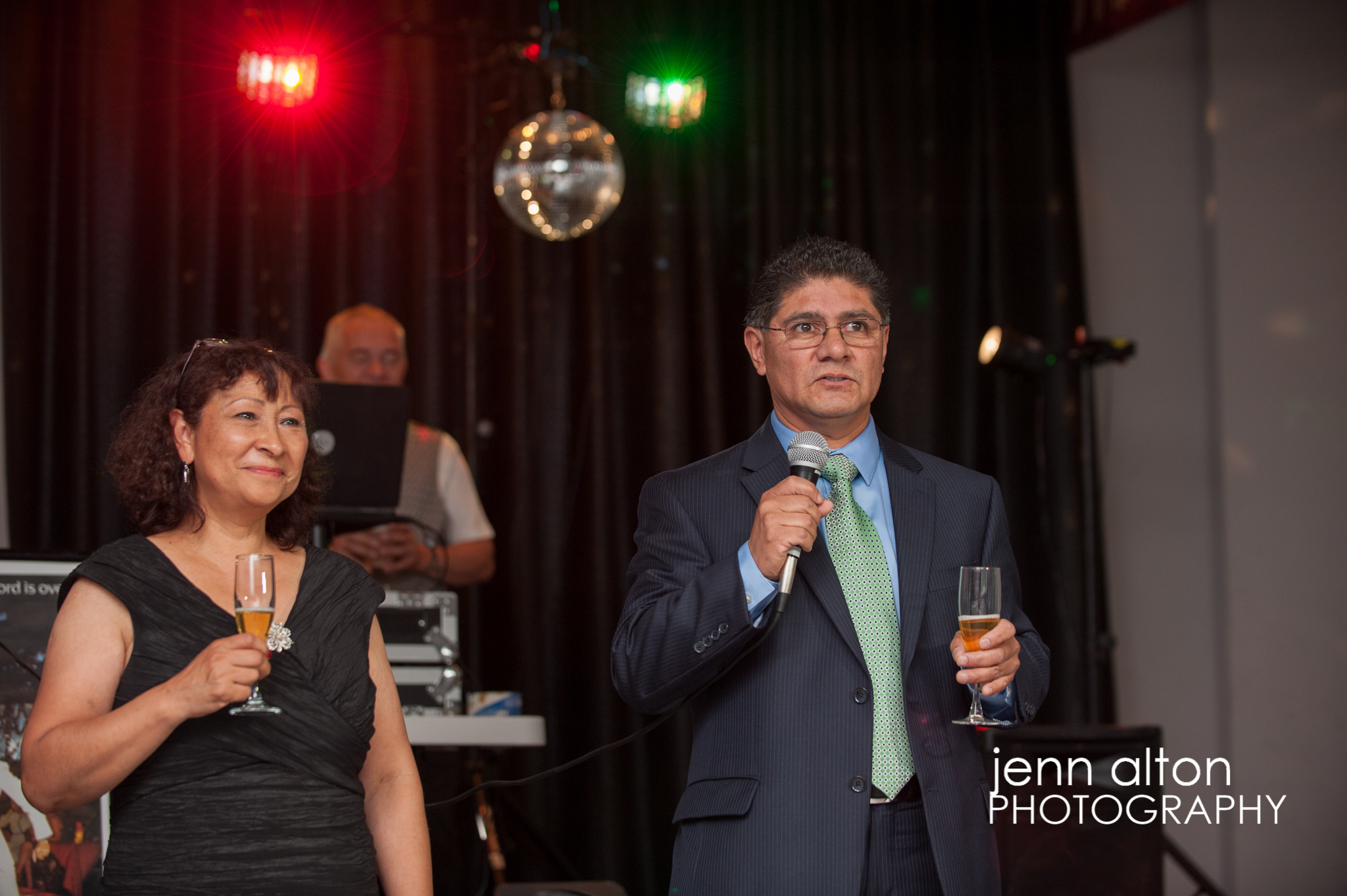 Father toasting Quinceanera and thanking guests