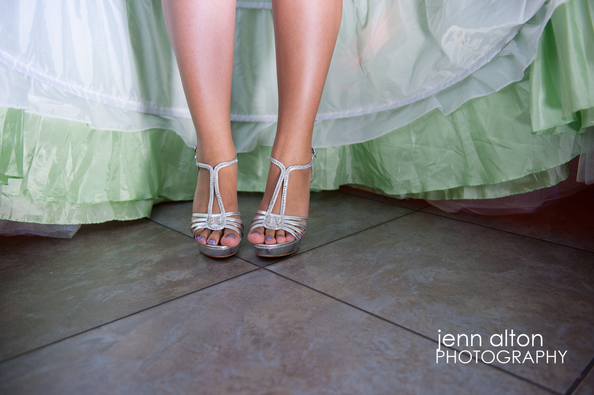 Quinceanera's new shoes