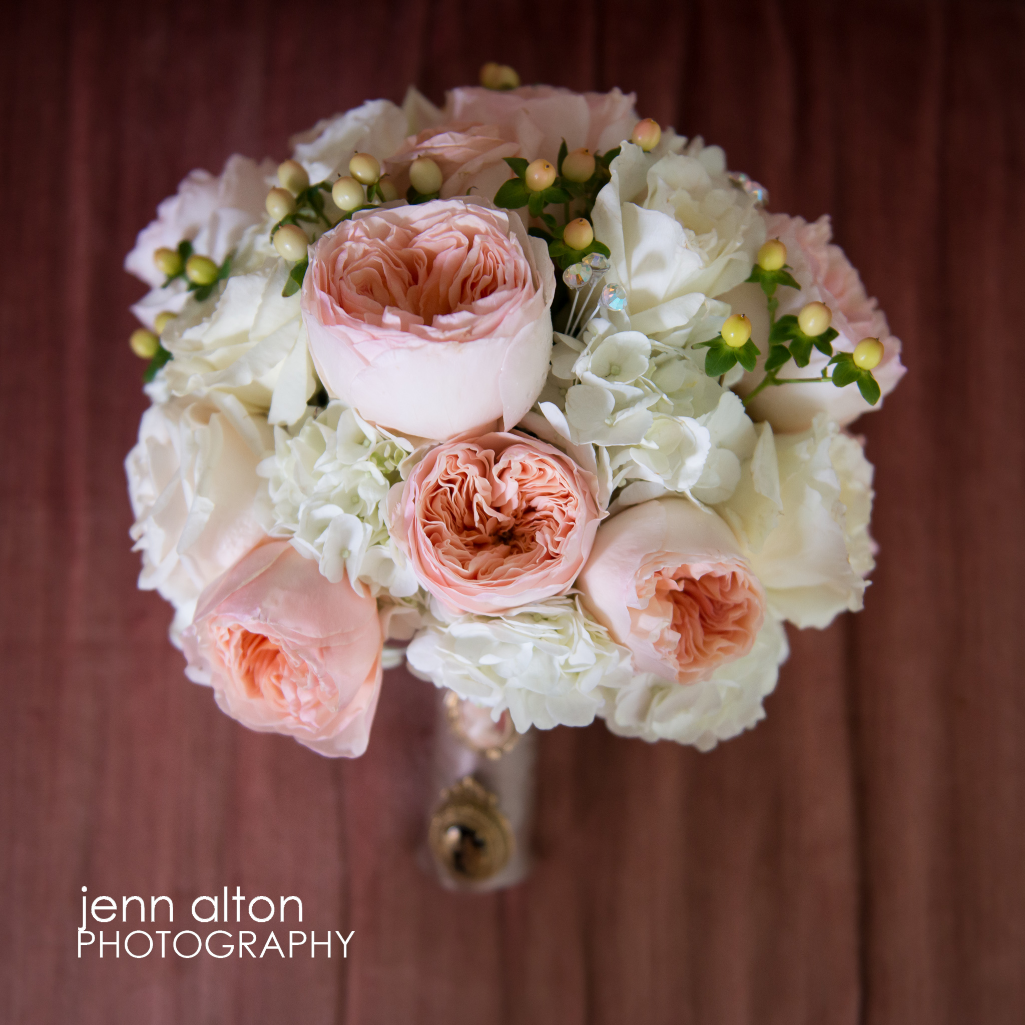 Bridal Bouquet, Pink, white and green, Henderson House