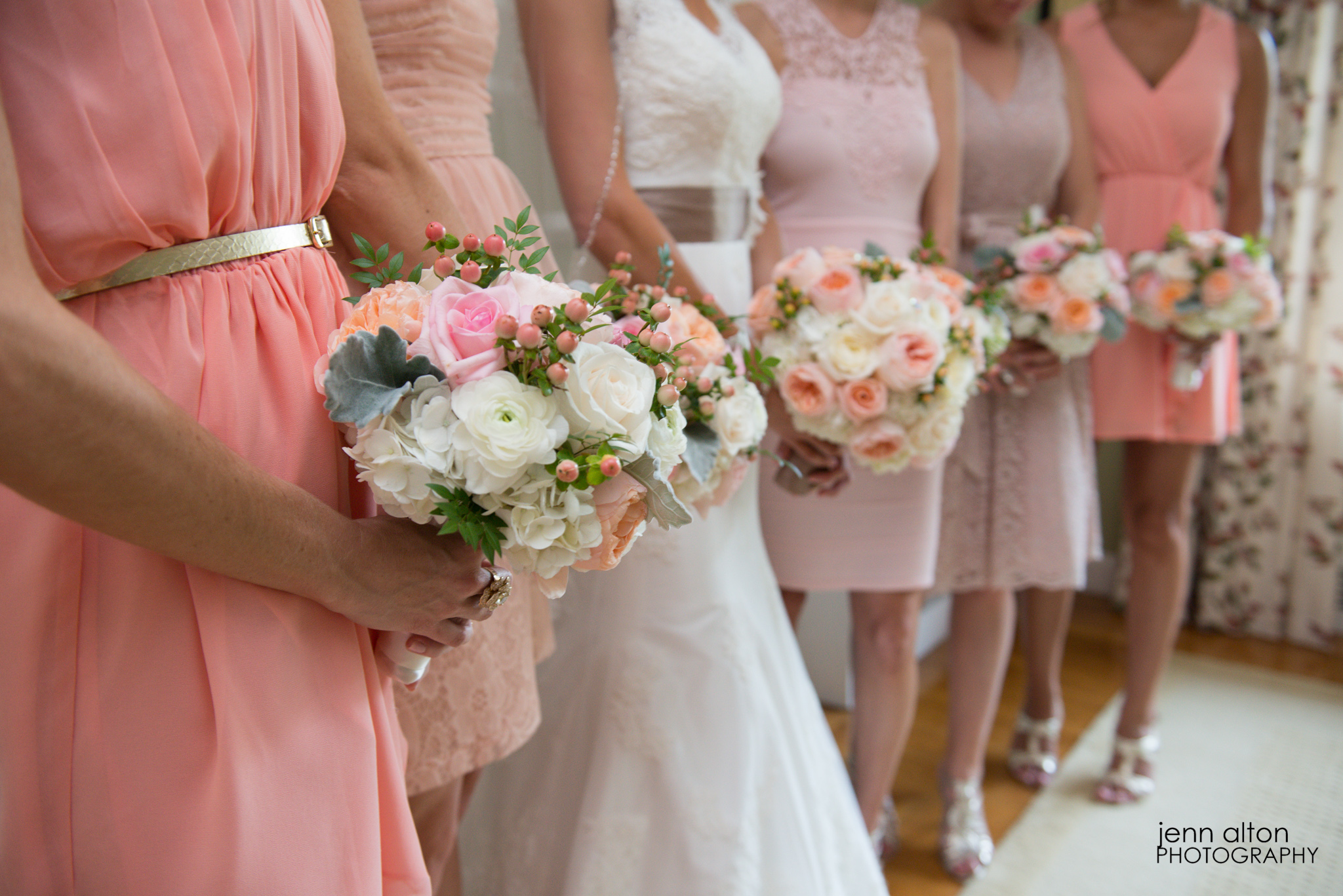 Bride and bridesmaids bouquets, Henderson House