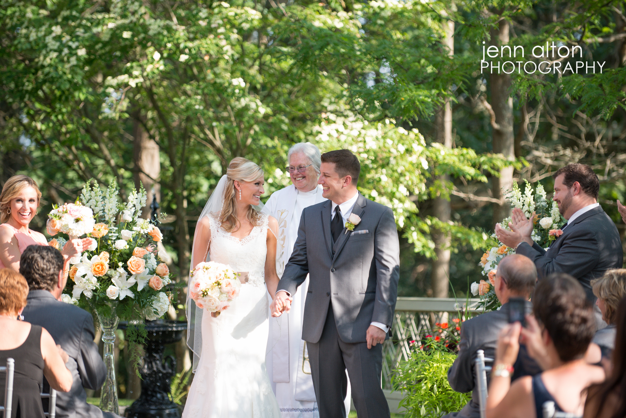 Bride and Groom during Ceremony, Henderson House