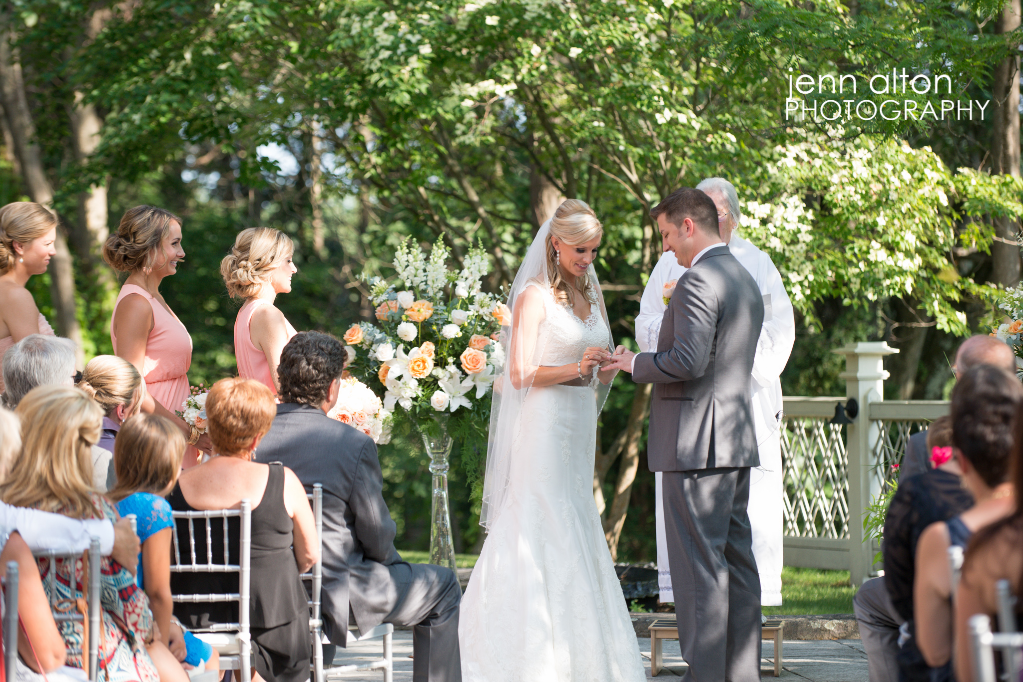Bride and Groom ring exchange, Henderson House
