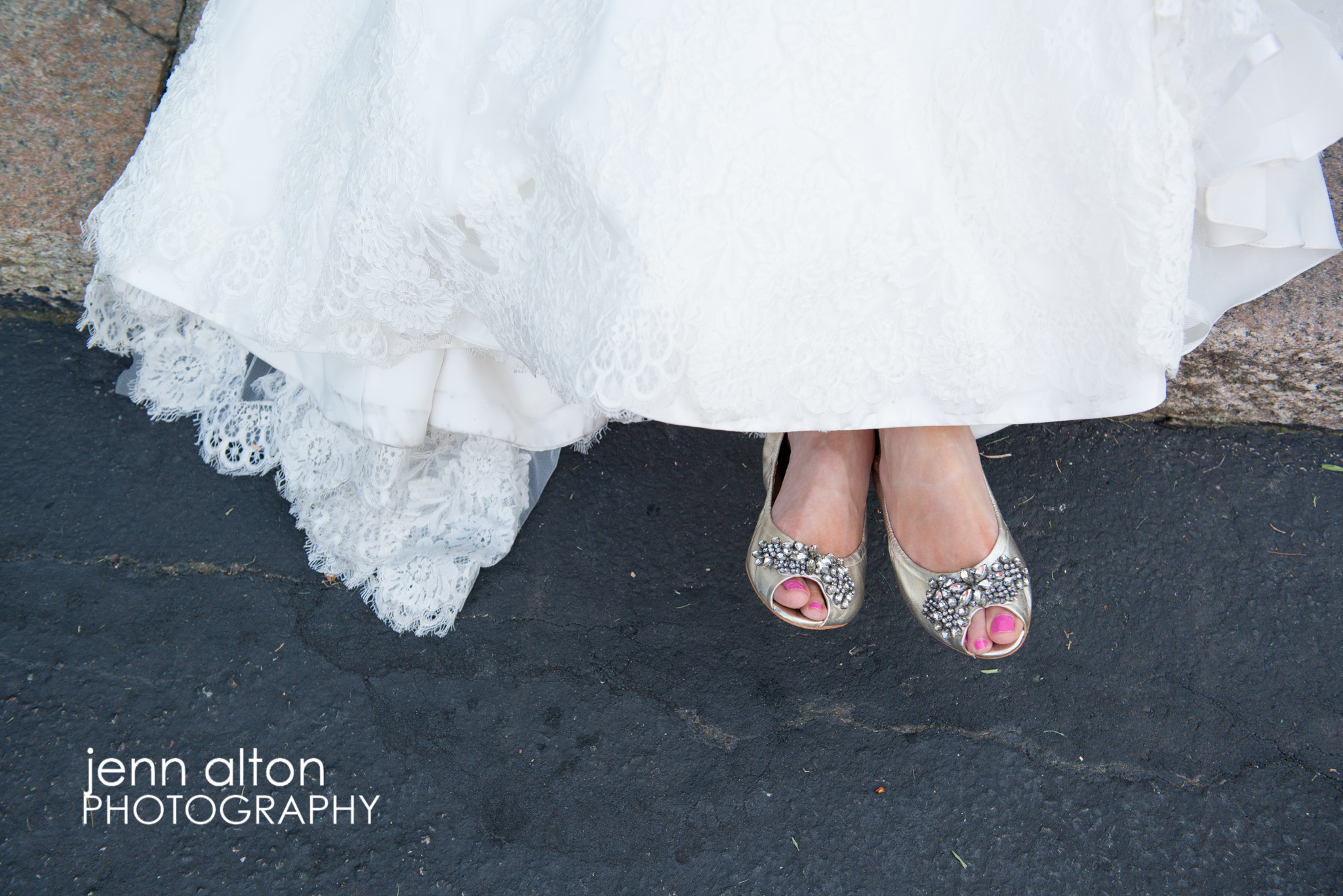 Bride's Vera Wang shoes
