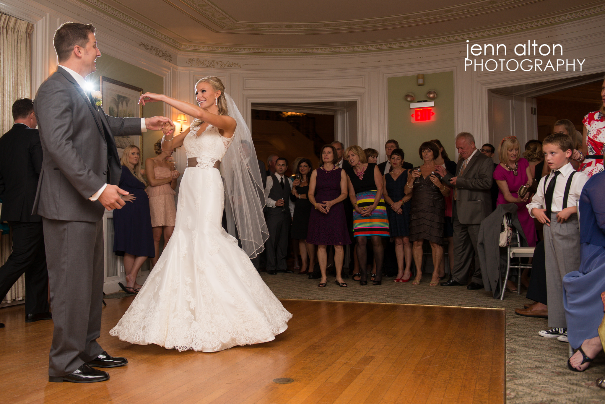 First dance for bride and groom, Henderson House