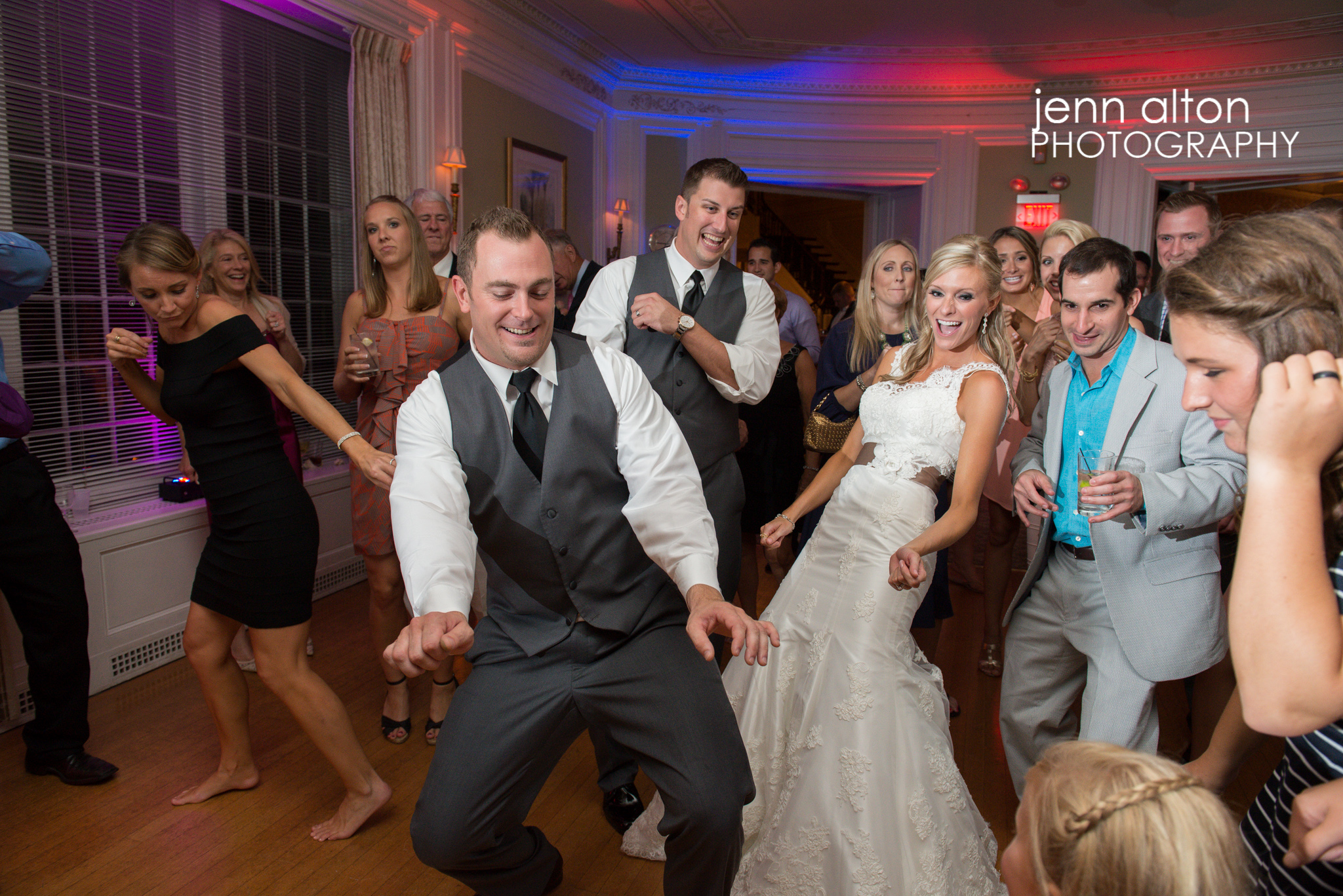 Dancing at Reception with bride and groom, Henderson House