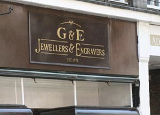 G & E Jewellers shop front