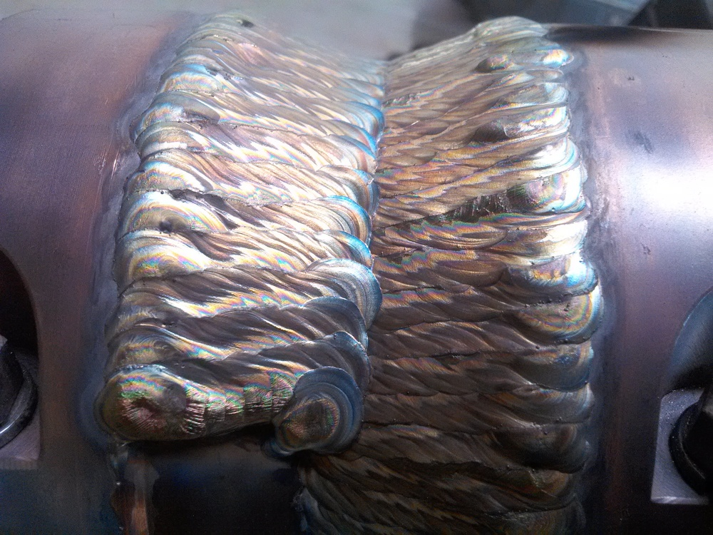 1/4 stellite hardfacing in one pass (Tig)