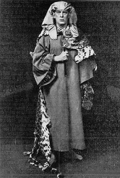 Aleister Croley, in Priestly Dress