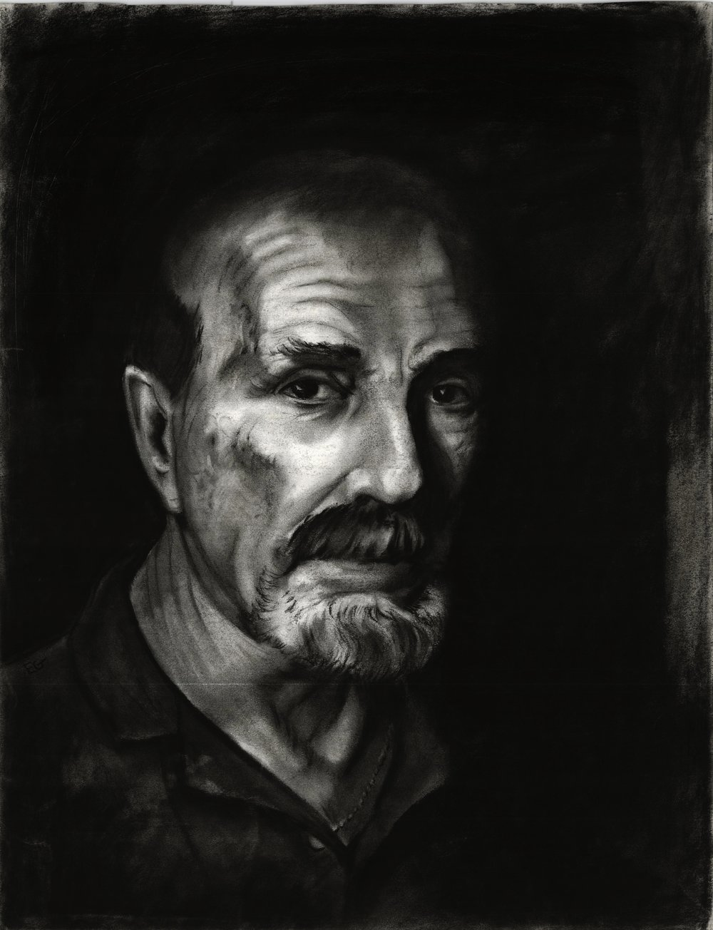 My Father. Charcoal on paper.