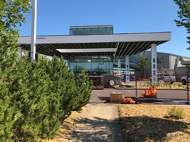 The new main entrance at #prairielandpark is coming together. . . . . #yxearchitecture #yxearchitect #sky_high_architecture #koopmanarchitecture #art_architecture #yxe #saskatoon #exploresask #unlimitedcities