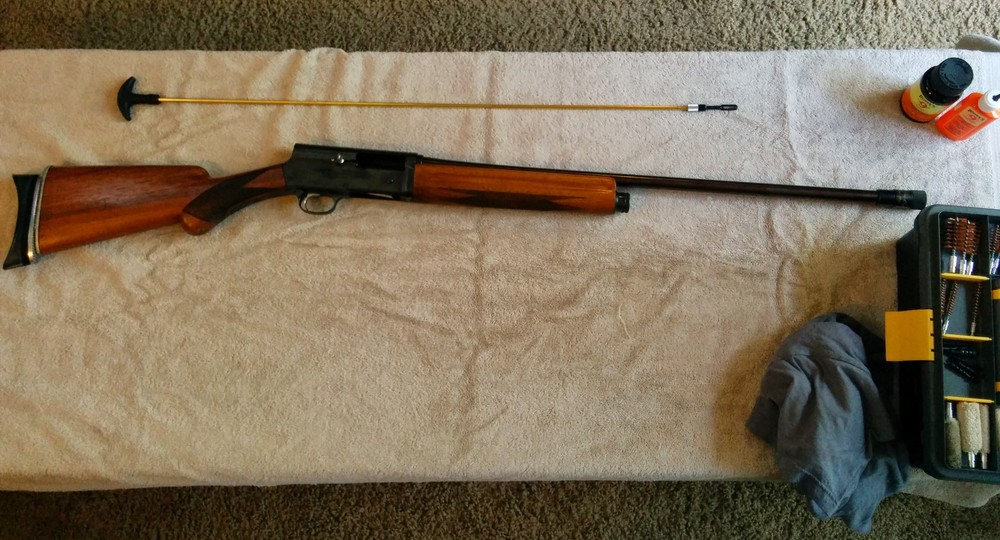how to clean an old belgium browning 20ga a5 shotgun