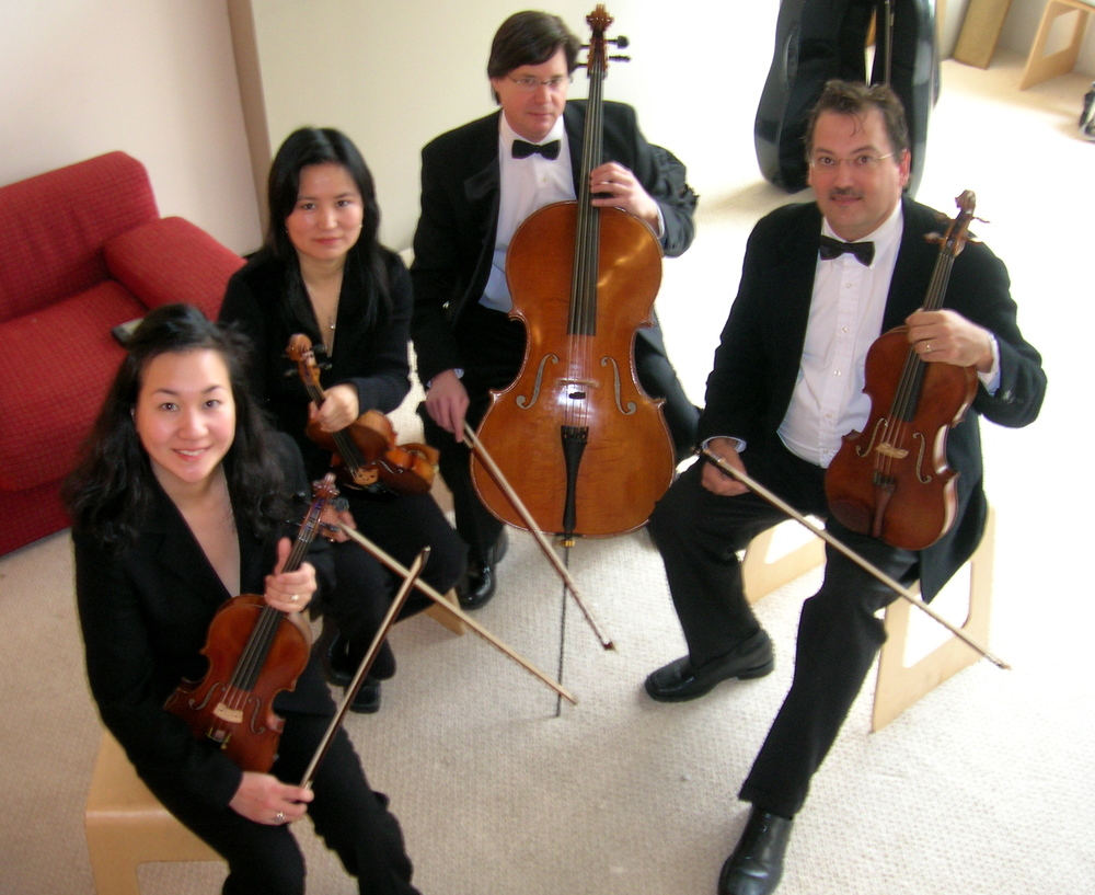 The Piacere String Quartet.
