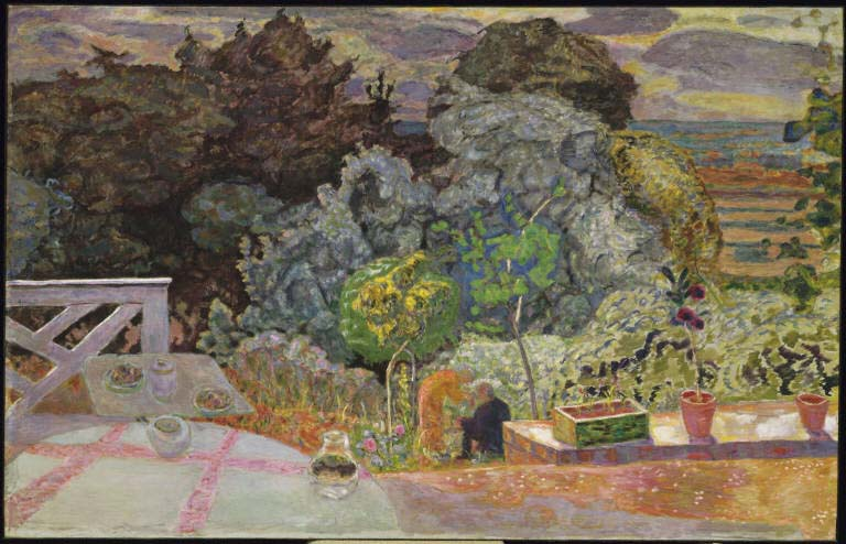 The Terrace by Pierre Bonnard, 1918; Image via The Phillips Collection