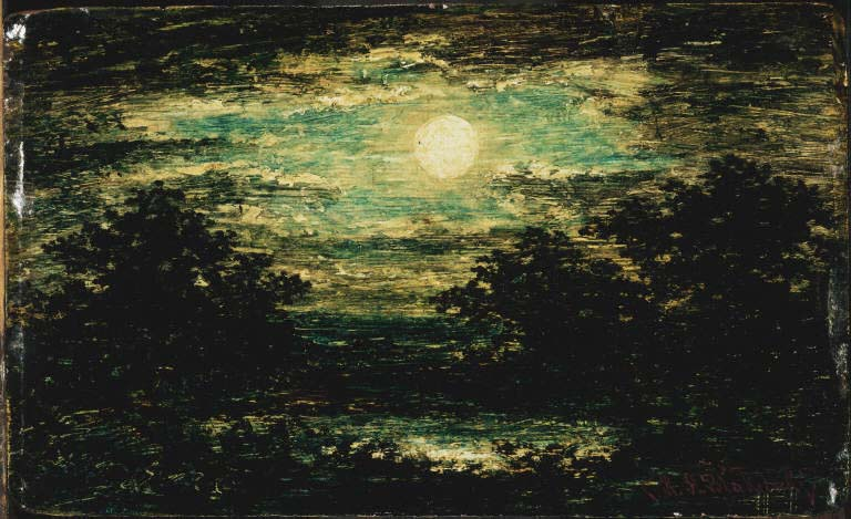 Moonlight, Ralph Albert Blakelock, between 1885 and 1895