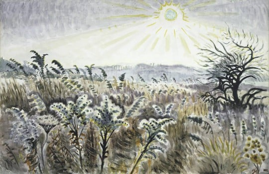 Charles E. Burchfield (1893-1967), Goldenrod in December, 1948