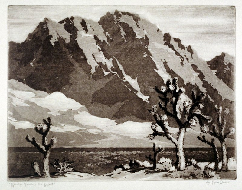Winter Touches the Desert, Orpha Klinker, 1938