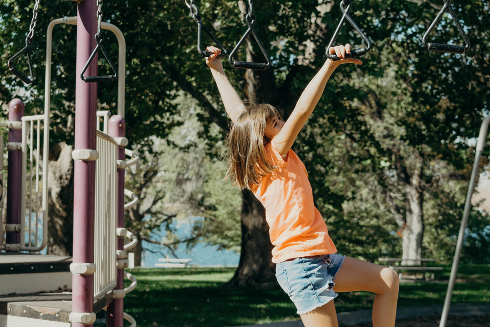 Young Girl Swinging In Park - Taken at Hood Park in Burbank, WA 10/2018