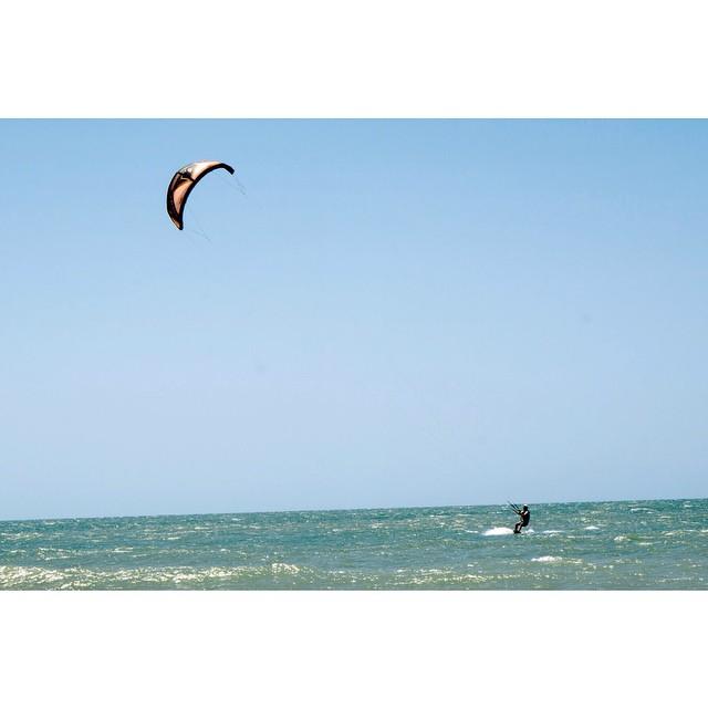 Learning to kite surf. Check ☑️ #jericoacoara #brazil #kiting #bucketlist #asenseofplace #kitesurfing #extreme #blasting