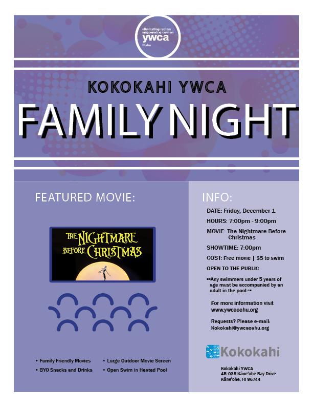 Kokokahi Family Night flyer DEC 2017.png
