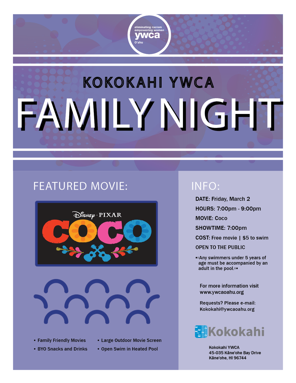 Kokokahi Family Night flyer March 2018.png