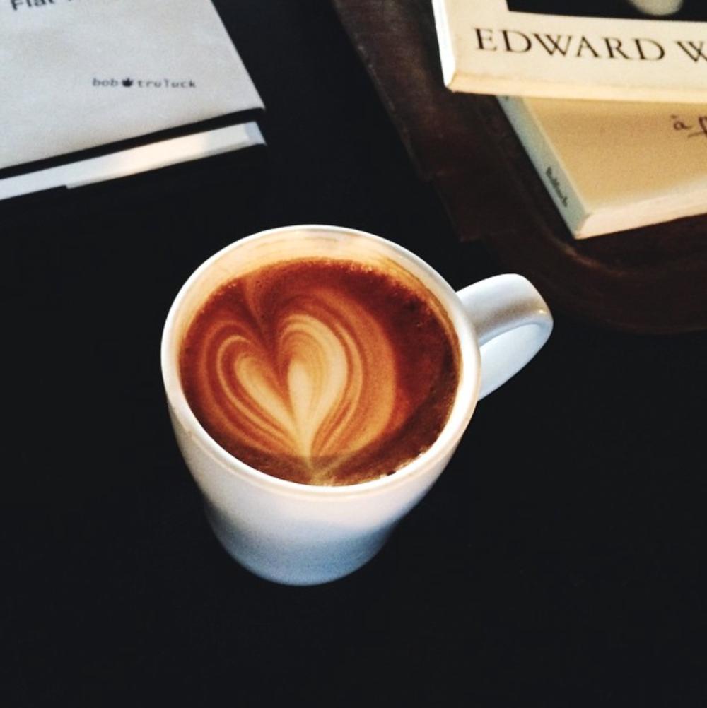 Downtown Credo's caramel latte.