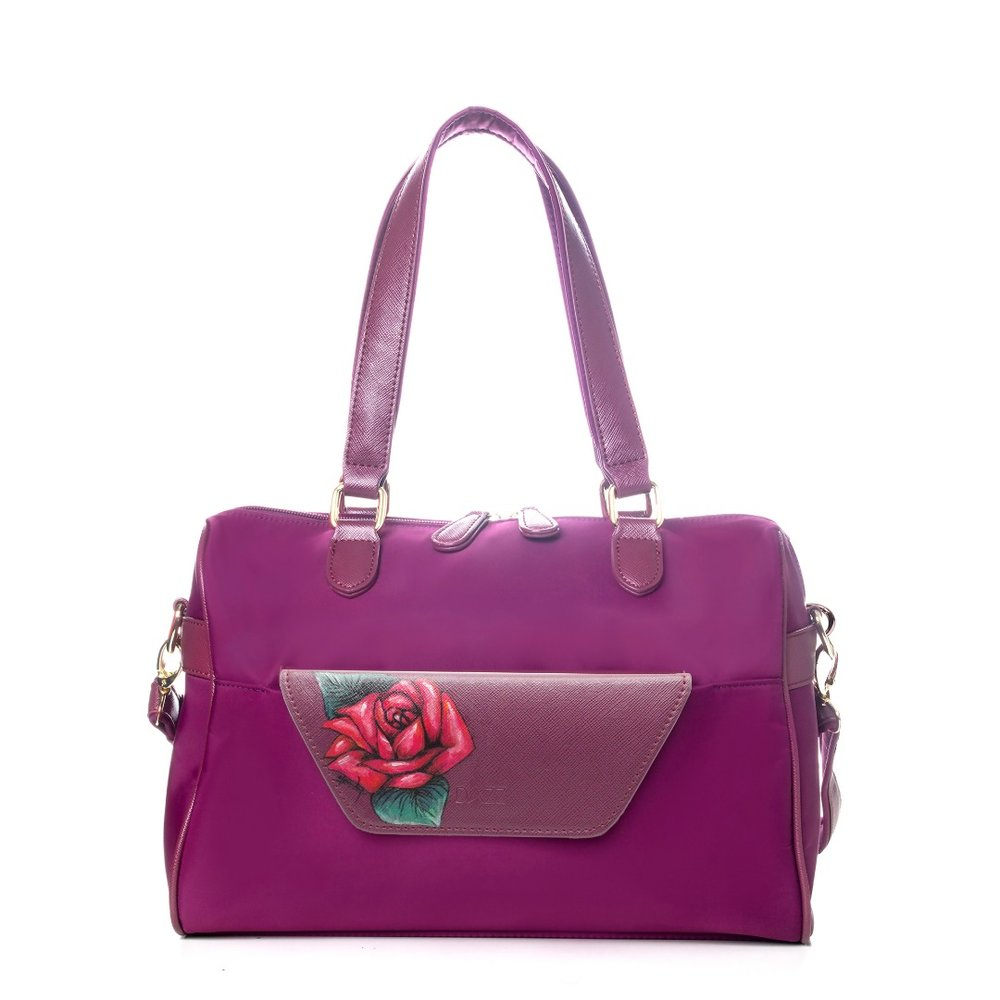 LIMITED EDITION: On the Go 'Majestic Magenta' Classic with the red rose