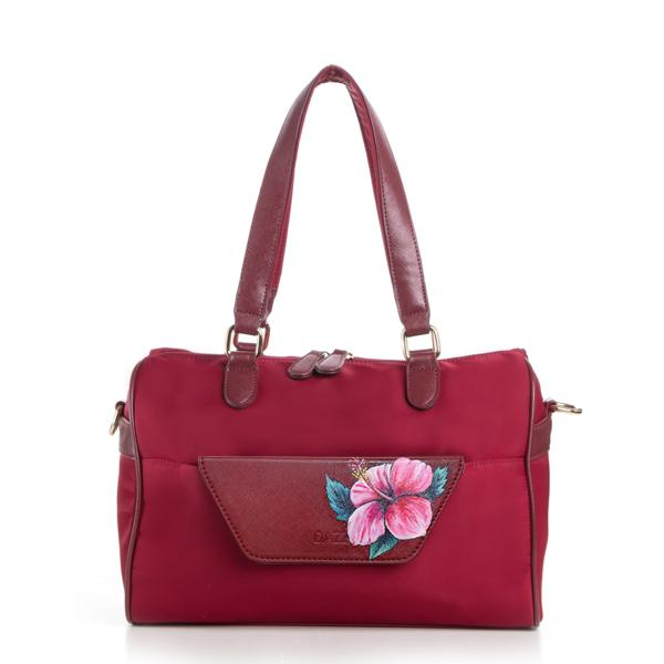 Pink Hibiscus on Red On The Go Bag.jpg