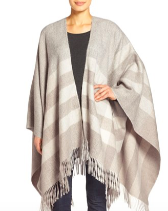 Photo credit: Nordstrom  Stripe Alpaca Blanket Poncho