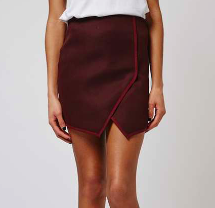 Photo credit: Topshop Angled Wrap Airtex Mini Skirt