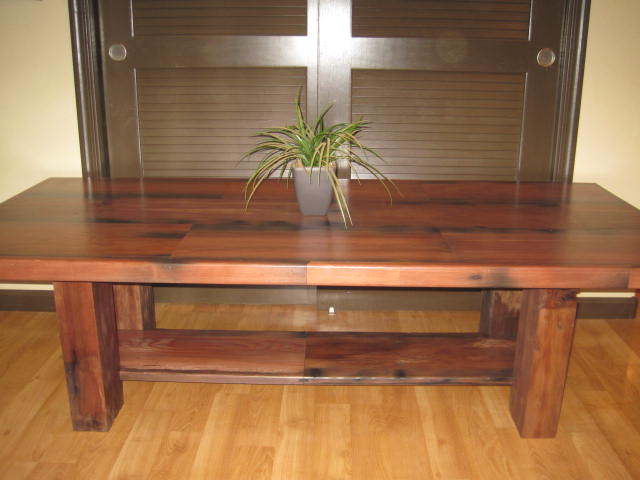 Merveilleux Elegant Redwood Coffee Table