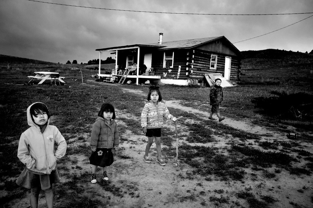 49% of the population in Pine Ridge live below the poverty line.