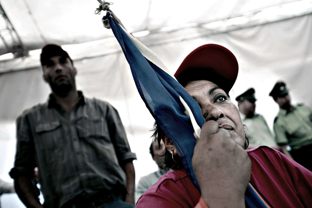 Chile, September 2010. Her brother is one of 33 miners stuck in the San Jose Mine.